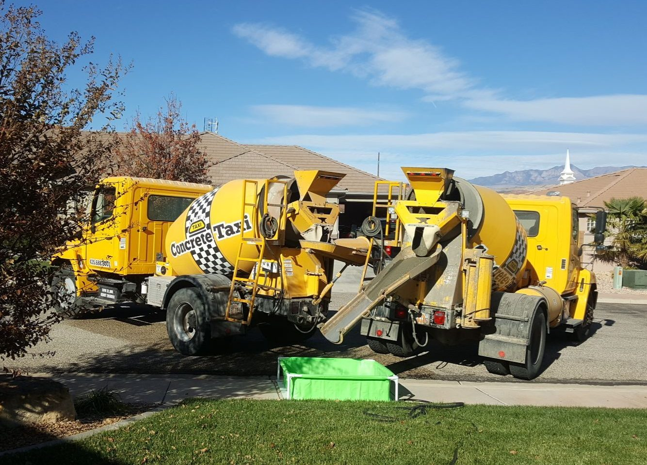 Concrete Delivery | St George UT | Concrete Taxi | Small Concrete Mixer